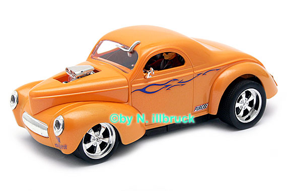 27224 Carrera Evolution '41 Willys Coupe Hotrod Supercharged