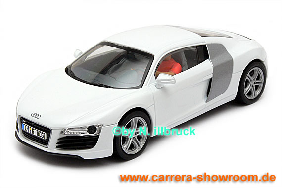 carrera showroom 30464 carrera digital 132 audi r8 weiss. Black Bedroom Furniture Sets. Home Design Ideas
